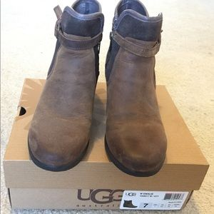 0fd84b8c51d UGG Emalie Waterproof Leather Wedge Boots (Bootie)